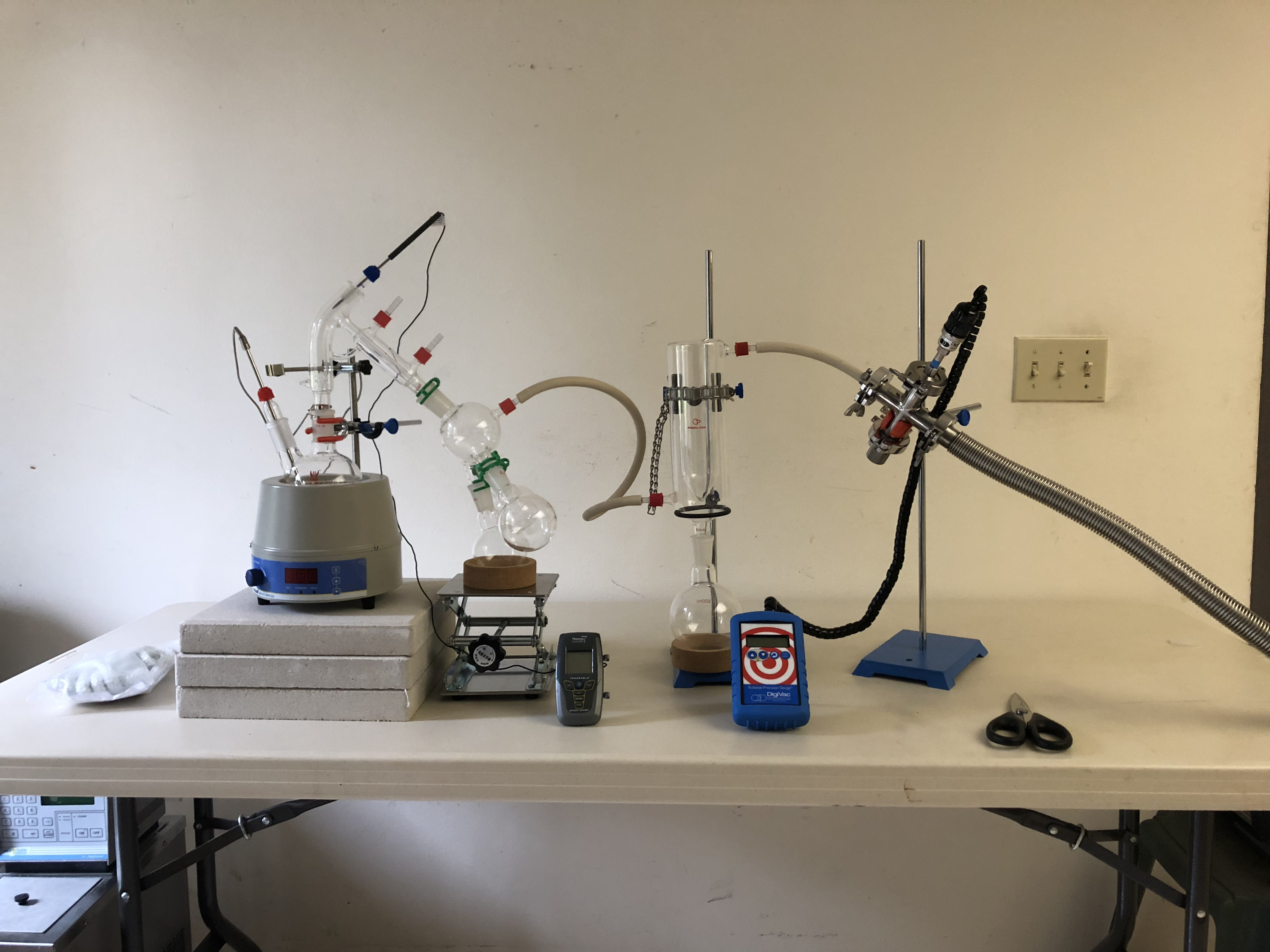 First time running a short path distillation setup  Comments